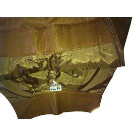 Alaïa-Pantalon 7/8° dans le merveilleux Cuir Alaïa-Caramel
