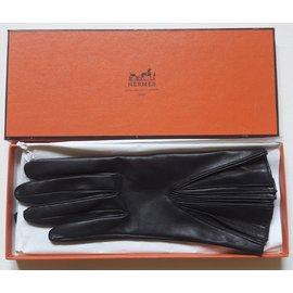 Hermès-gants vintage-Noir