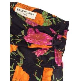 Balenciaga-pantalon / legging Balenciaga défilé printemps été 2017-Multicolore