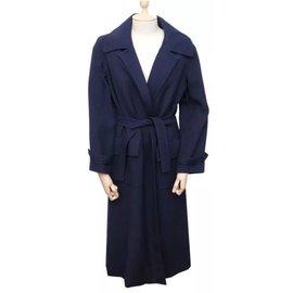 Hermès-Trenchs-Bleu Marine