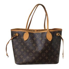 Louis Vuitton-Sac Loui Vuitton Neverfull Monogram PM en bon état !-Marron