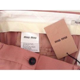Miu Miu-Pantalons-Rose