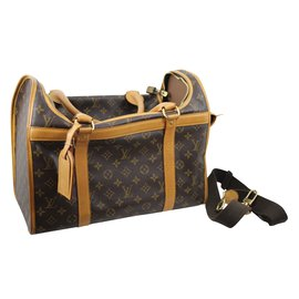 Louis Vuitton-Pet Carrier-Marron foncé