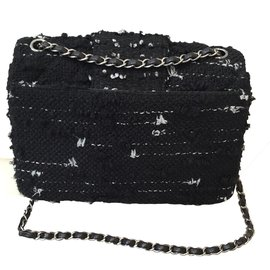 Chanel-Classic tweed bag-Black
