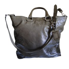 Prada-Sac Shopping-Marron