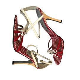 Guess-Sandales-Blanc,Rouge
