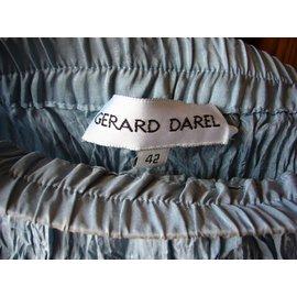 Gerard Darel-Jupe gérard darel en soie et coton plissée-Bleu