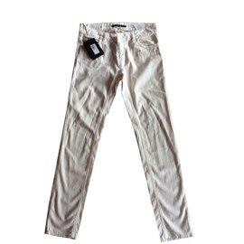Twin Set-Pantalon blanc poche coeur-Blanc ... 66055161fca7