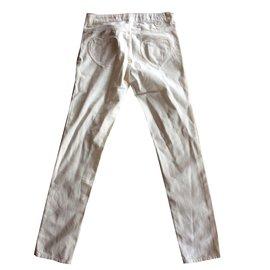 Twin Set-Pantalon blanc poche coeur-Blanc