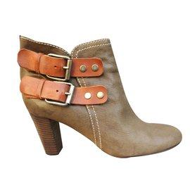 Chloé-Ankle Boots-Khaki