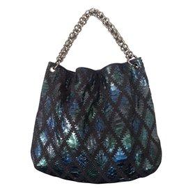 Chanel-Cabas Python Coco-Bleu