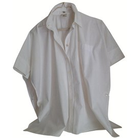 Hermès-Blouse  Hermes poncho style slits on sides-White