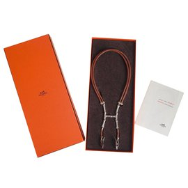 Hermès-Bambou-Brown,Silvery
