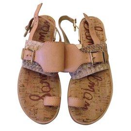 Sam Edelman-Sam Edelman flat sandals-Black,Caramel
