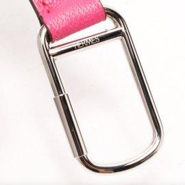 Hermès-Porte clés bijou de sac-Rose