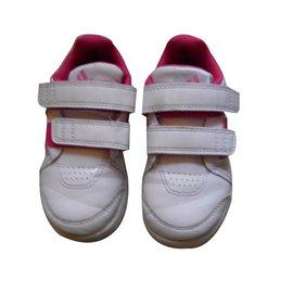 Adidas-Baskets enfant-Blanc