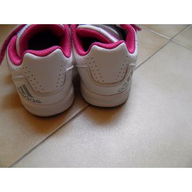 Adidas-Baskets enfant-Blanc
