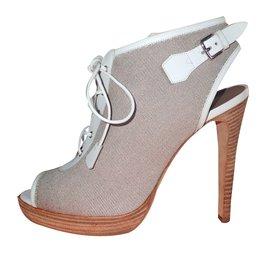 Hermès-Ankle Boots-White,Beige