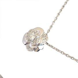 Chanel-Pendant Camélia-Metallic