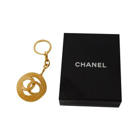 Chanel-Key holder/ bag charm-Golden