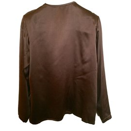 Yves Saint Laurent-Tops-Marron