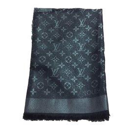 Louis Vuitton-Monogramm Stole-Noir,Argenté,Métallisé