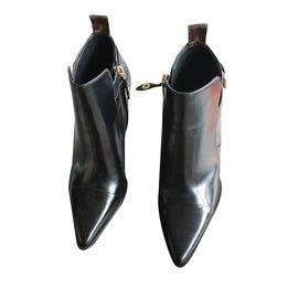 Louis Vuitton-Bottines cuir-Noir