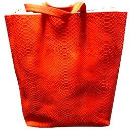 Céline-python Tote-Orange