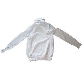 Louis Vuitton-pull col roulé-Blanc