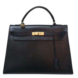 Hermès-Sublime Hermès Kelly 32 noir rare! 012437a9e59