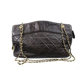 Chanel-shopping-Marron