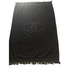 Chanel-beach towel-Black