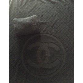 Chanel-beach towel-Black