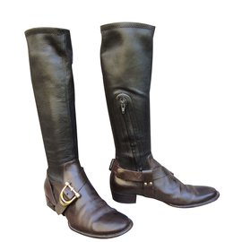 Céline-Boots-Dark brown