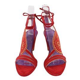 Hermès-Sandales-Rouge