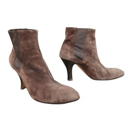 Hermès-Ankle Boots-Brown