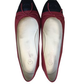 Chanel-ballerinas-Red