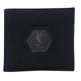 Yves Saint Laurent-Portefeuille Yves St Laurent pour homme-Noir