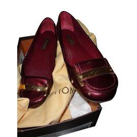 Louis Vuitton-lady flat ballerina-Bordeaux