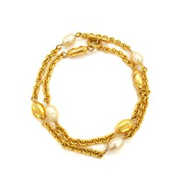 Chanel-Chanel collier vintage collector.-Doré