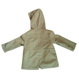 Zara-Girl Coats outerwear-Khaki