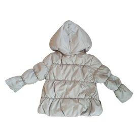 Zara-Blousons, manteaux filles-Gris