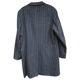 Carven-Men Coats Outerwear-Dark grey