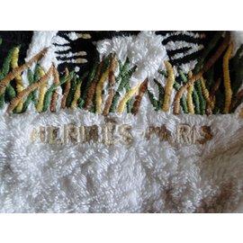 Hermès-Sac de Plage Zèbre et son petit-Blanc