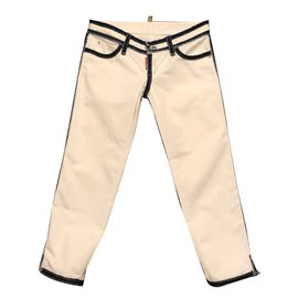 Dsquared2-Jeans-Blanc,Bleu