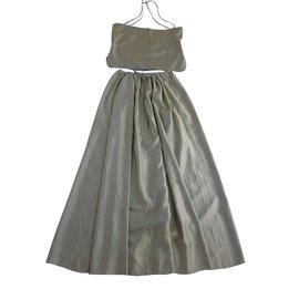 Chanel-top et maxi jupe-Vert