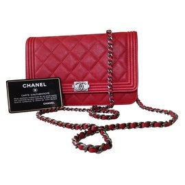 Chanel-Wallet On Chain-Rouge