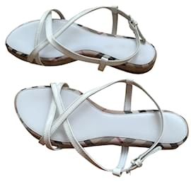 Burberry-Sandals-White