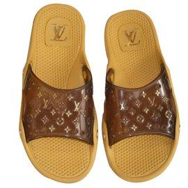 Louis Vuitton-Mules-Marron