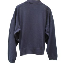 Hermès-Knitwear-Navy blue